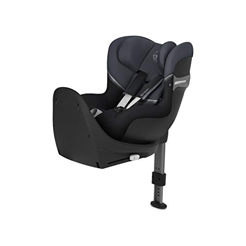 CYBEX Gold Sirona S i-Size, Système de Rotation à 360°, Dos face à la route, Pour l'enfant de la naissance jusqu'à 4 ans env., (jusqu'à 105 cm max.), Granite Black