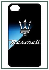 Maserati Logo Logo Maserati iPhone 4 iPhone4 noir Designer dur Protecteur Housse Coque
