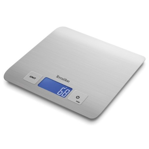 Terraillon Quadro Electronic Kitchen Scales in Stainless Steel T1009
