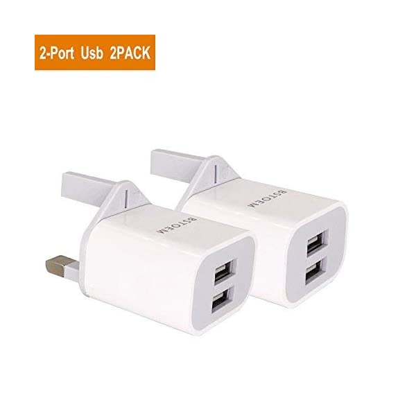 bstoem compatible with charger usb plug-2 ports 2a multi usb charger compatible with ipad iphone xr/x/8/7/6/6s plus/se/5c android samsung galaxy note 8 tablet kindle more BSTOEM Compatible With Charger USB Plug-2 Ports 2A Multi USB Charger Compatible With IPad IPhone XR/X/8/7/6/6s Plus/SE/5c Android Samsung Galaxy Note 8 Tablet Kindle More 314cB9Ets 2BL