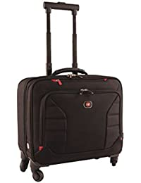 "Wenger 600660 INTERCHANGE 17"" Deluxe Wheeled Laptop Briefcase, Padded laptop compartment with overnight compartment in Black {25 Litres}"