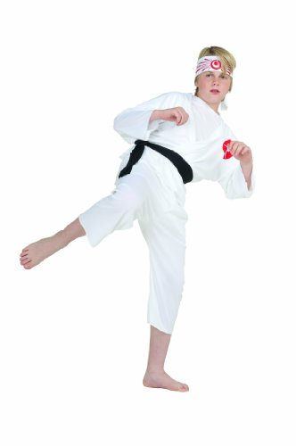 Boy Karate Kostüm - RG Kost-me 90007-L Karate Boy Kost-m - Gr--e Child-Large