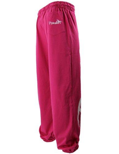 Pantalon Jogging Djaneo Rio Coton. Homme et Femme (plus de 30 couleurs disponible) Rose et Blanc