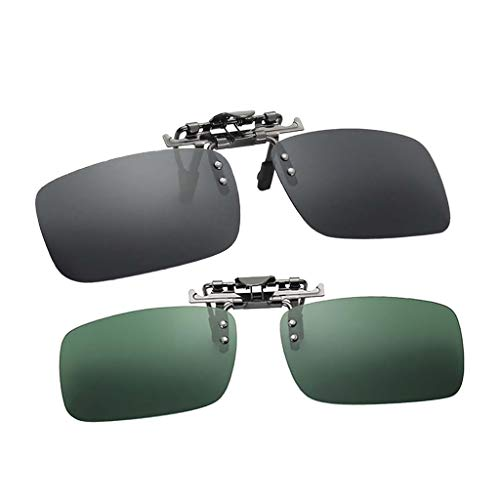 FLAMEER 2 Polarisierte Klipp Auf Objektiv Flip Up Sonnenbrillen Autofahren Nachtsichtbrille
