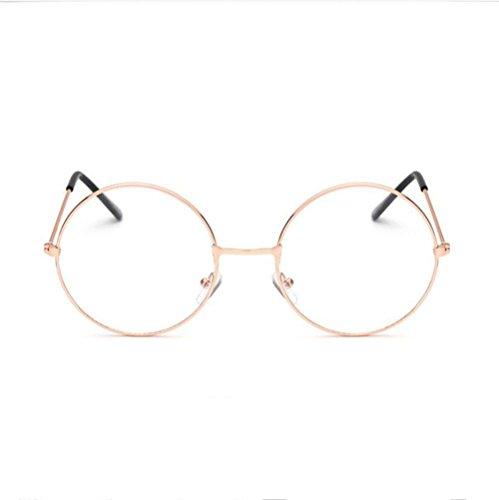 Z&YQ klar Linse Gläser Flieger Spiegel Myopie ultra-Licht Rahmen Gezeiten-Schutzbrillen , gold
