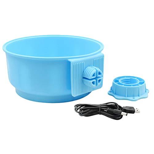 POPETPOP beheizte Hundenapf 5V 700ML Hängen thermisches beheiztes Wasser Schüssel für Katzen Haustiere (Sky Blue) -