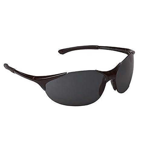 ERB 16806 Keystone Safety Glasses, Black Frame with Smoke Lens by ERB