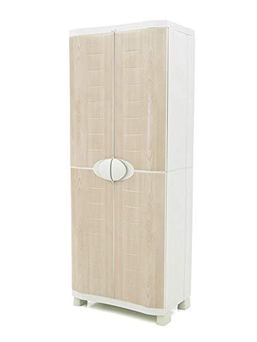 Plastiken Armario SPACE SAVER 70cm con 4 estantes metálicos con puertas imitación madera de HAYA 70cm...