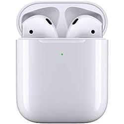 Apple AirPods avec boîtier de charge sans fil (Dernier Modèle)
