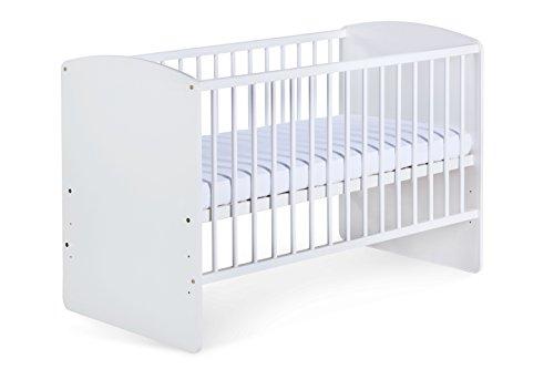 Babybett 'Carola' 120x60 cm. weiß mit Matratze