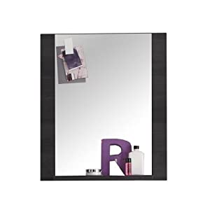 trendteam Muebles Espejo de pared, Madera, Gris, 60 x 70 x 15 cm