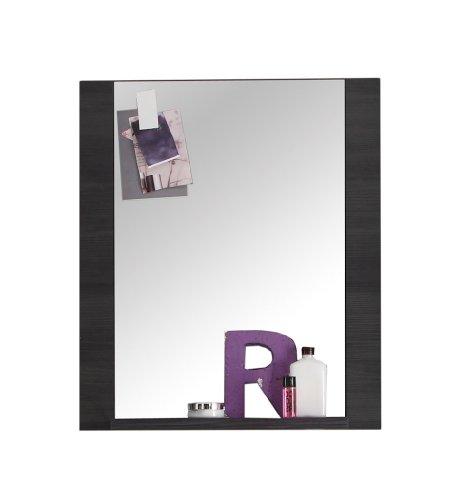 Trendteam 1312-401-69 Badezimmer Wandspiegel Xpress, 60 x 70 x 15 cm in Esche Grau Dekor mit Ablage