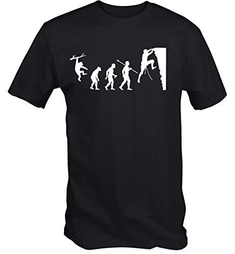 6TN Hombre Evolución de la Escalada Camiseta (M)