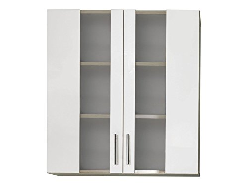 trendteam smart living Badhängeschrank, Holz, weiß, 65 x 70 x 21 cm