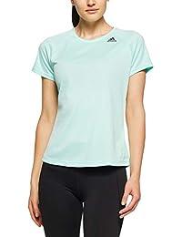 Adidas Frauen T-Shirt grün mit Glitze NEU 34 36 38 42