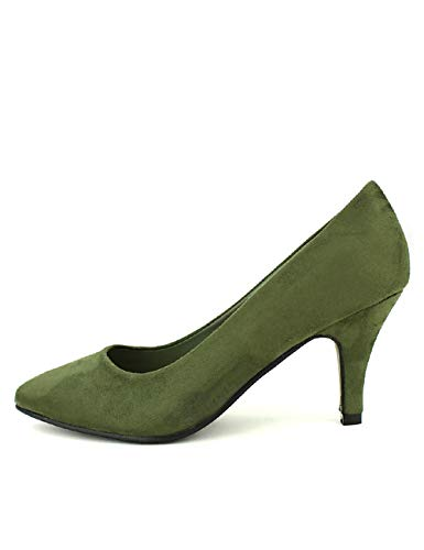 Cendriyon, Escarpins Kaki Queen Vivi Chaussures Femme