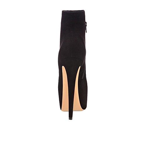 Kolnoo , chaussures compensées femme Noir