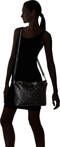 Lollipops 23007, Borsa a Tracolla Donna, 11x27x33 cm Nero (Black)