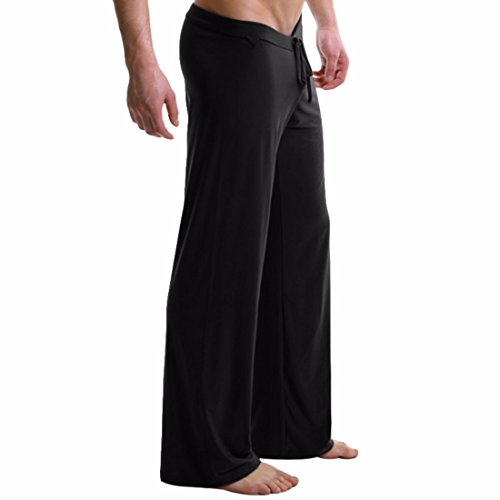 Men's Casual Drawstring Loose Trousers Black