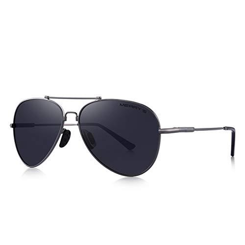 YYHV Männer hd polarisierte Sonnenbrille Pilot Sonnenbrille Titanium Speicher Legierung brücke uv400 Schutz