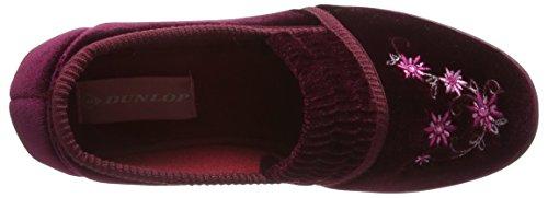 Dunlop Camilla, Chaussons femme Rouge - Rouge (Rouge lie de vin)
