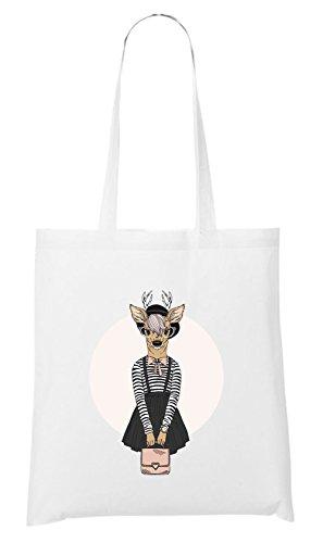 Certified Freak Fashion Deer Bag White