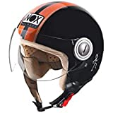 NOX Casque Jet N210, Noir/Orange, XS