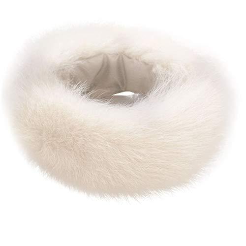 BESSKY Frauen Artificial Wool Winter Warm Scarf Collar Shawl Ladies Wraps Stitching Faux Pelzkragen Animal Print Faux Wrap