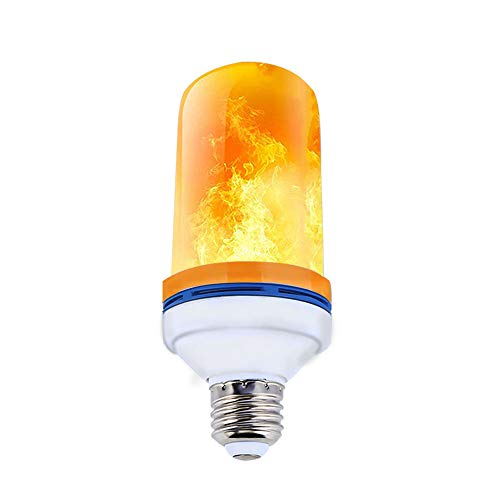 LED Flamme Glühbirne, Zorara E27 Flamme Lampe Flackerlicht 4 Modi Feuer Birne Led Dekorative Leuchte Atmosphäre Beleuchtung Flackernd Flammeneffekt Feuer Glühbirnen Effekt Simuliert (1 Stück) -
