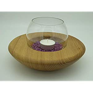 Windlicht, Kerzenhalter Teelicht Halter Holz Akazie gedrechselt Deko