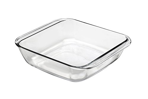 Duralex Made In France OvenChef Square Baking Dish, 10.625 x 10.625