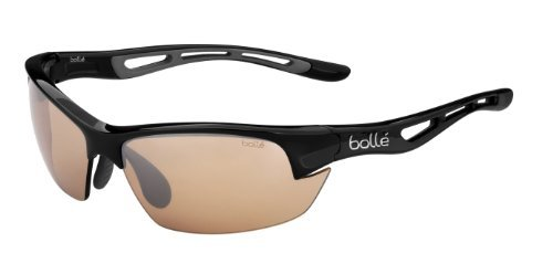 Bolle Bolt S Photo V3 Golf Sunglasses, Shiny black by Bolle
