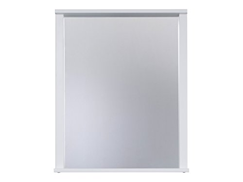Trendteam flo40101Espejo con estante blanco melamina, tamaño 63x 78x 12cm