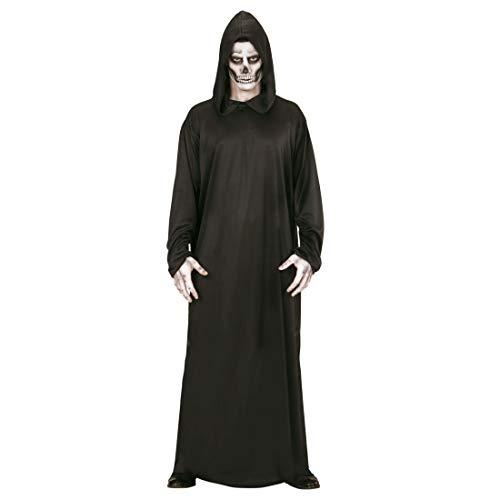 NET TOYS Gruseliges Sensenmann-Kostüm für Männer | Schwarz in Größe L (52) | Schauriges Herren-Gewand Verkleidung Grim Reaper | Perfekt angezogen für Horror-Party & Halloween