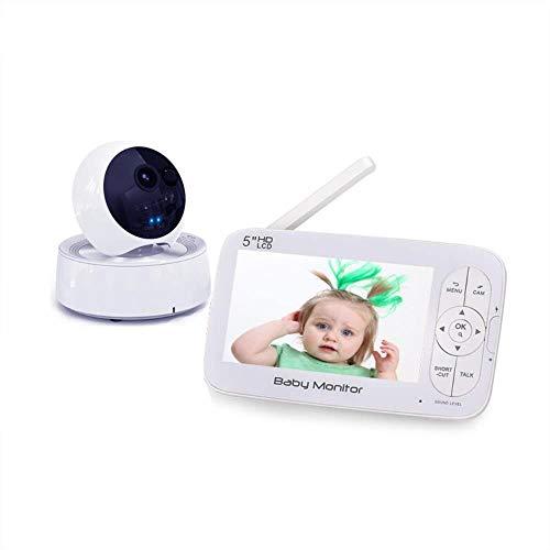 Monitores de bebé, unidades de la cabeza del bebé 5 pulgadas monitores de alta definición cuidado...