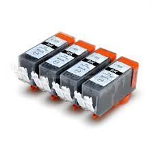 5x C-525BK Black (Large one) Compatible Ink Cartridges for Canon PIXMA iP4850 iP4950 iX6550 MG5150 MG5250 MG5350 MG6150 MG6250 MG8150 MG8250 MX715 MX885 MX895 Inkjet Printers. Fully chipped and will show Ink levels