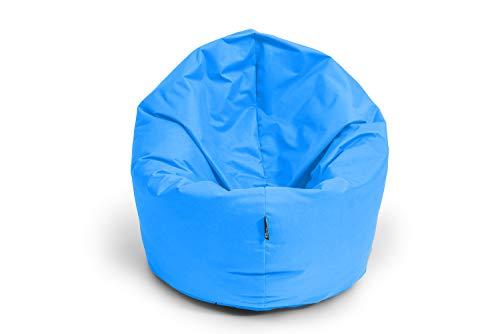 BuBiBag Sitzsack 2-in-1 Funktionen mit Füllung Sitzkissen Bodenkissen Kissen Sessel BeanBag (100 cm Durchmesser, königsblau)