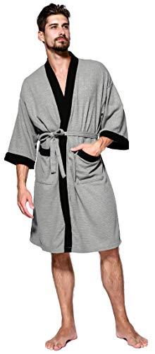 Unisex Albornoz Hombre o Mujer Primavera Verano Batas y Kimonos con Cinturón,Muy Suave Cómodo Fino...