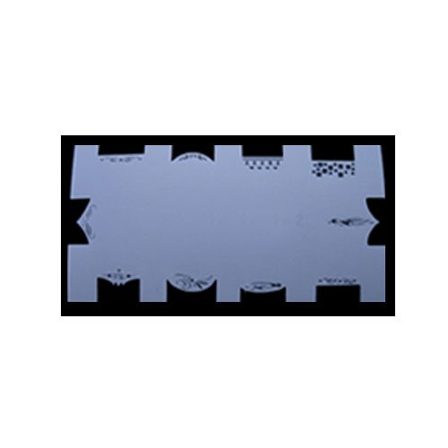Ocibel - Pochoir Aérographe Nail Art 16 - Manucure, Faux Ongles et Nail Art