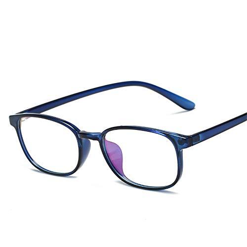 Sonnenbrillen für Damen Die blauen flachen Gläser Ultralight TR90 Memory Box ohne Grad Computerschutzbrillen Männer und Frauen Lue Shading-Brille, Anti-Glare-Fatigue, Kopfschmerzen, Augenermüdung, Com