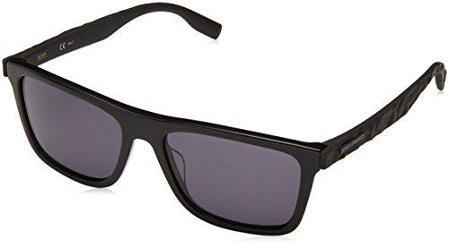 Boss orange bo 0297/s ir 807, occhiali da sole uomo, nero (black/gy grey), 54