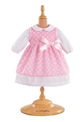 Corolle W9042 - Vestido de puntos para muñeca de 42 cm, color rosa de COROLLE