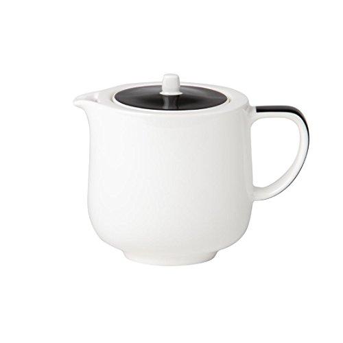 Royale de porcelaine Maxadura Bord Noir Couvercle Pot boissons Capacité: 14.75 oz / 420ml. Quantité, boite: 2.