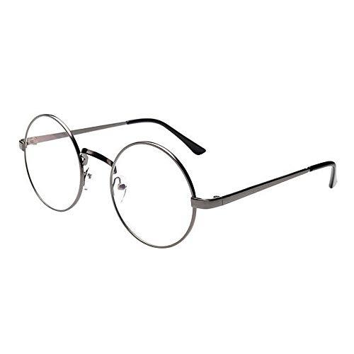 VRTURRetro Runde Brille Mit Fensterglas Damen Herren Brillenfassung, 5 Paar(One size,C)