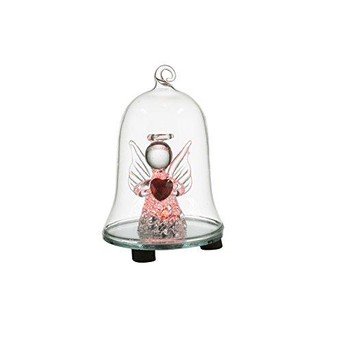 Lámpara de mesa Campana de cristal (transparente, cristal Ángel tran