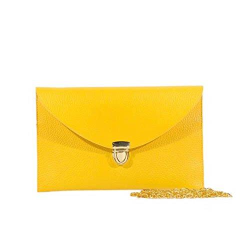 GSPStyle000219-P - Borsa a tracolla Donna Giallo (giallo)