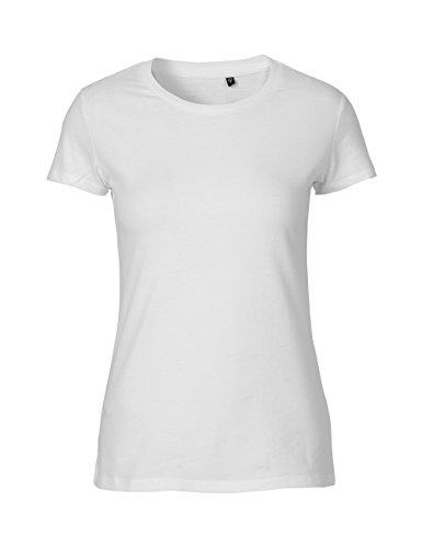 -Green Cat- Ladies Fitted T-shirt, 100% Bio-Baumwolle. Fairtrade, Oeko-Tex und Ecolabel zertifiziert, Textilfarbe: weiss, Gr.: S (T-shirt Cat S/s)