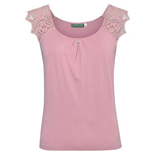 Country-Line Damen Trachten-Mode Trachtenshirt Luisa in Rosé traditionell, Größe:36, Farbe:Rosa