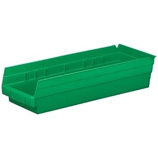 akro-mils 3013818-inch von 6-inch 4-inch mit Regal Spielzeug-Box, 12-pack, 30138GREEN