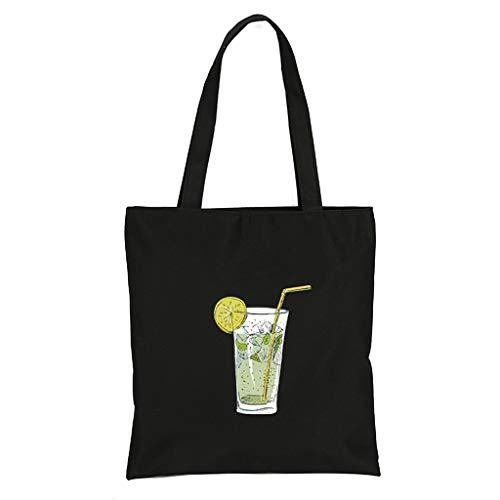 Auifor✿Mode frauen leinwand druck cartoon umhängetaschen messenger bags griff taschen